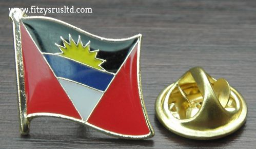 Antigua and Barbuda Flag Lapel Hat Cap Tie Pin Badge St. John's Gift Souvenir